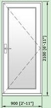 Smarts Aluminium Alitherm 47mm Residential Door 900mm by 2100mm